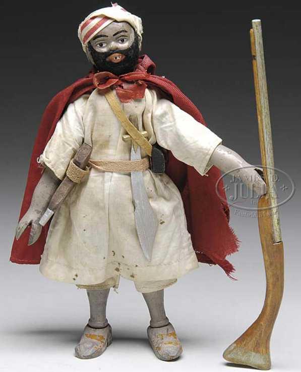 schoenhut holz spielzeug figur teddy roosevelt als araber gewehr