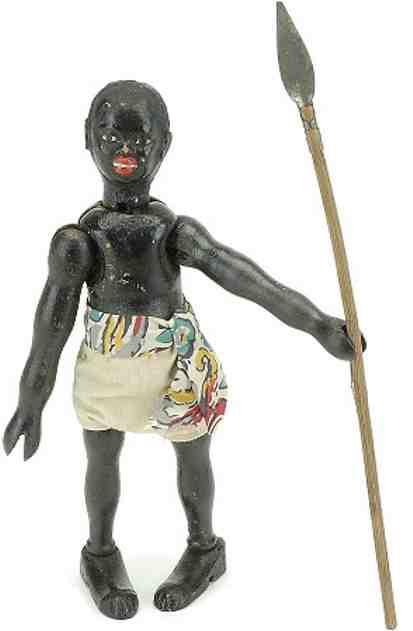 Schoenhut Safari Figure  jointed wood with spear