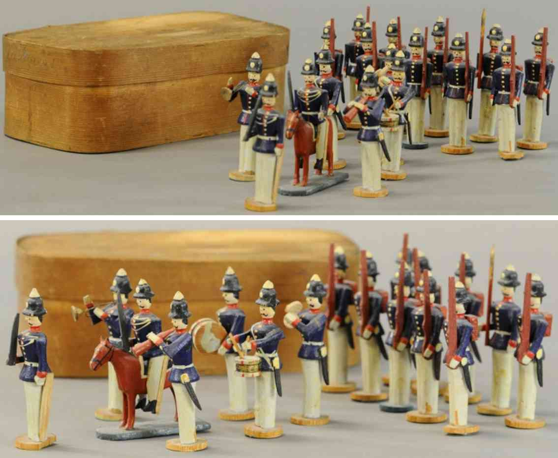 holz spielzeug set elf soldaten bugholz-karton