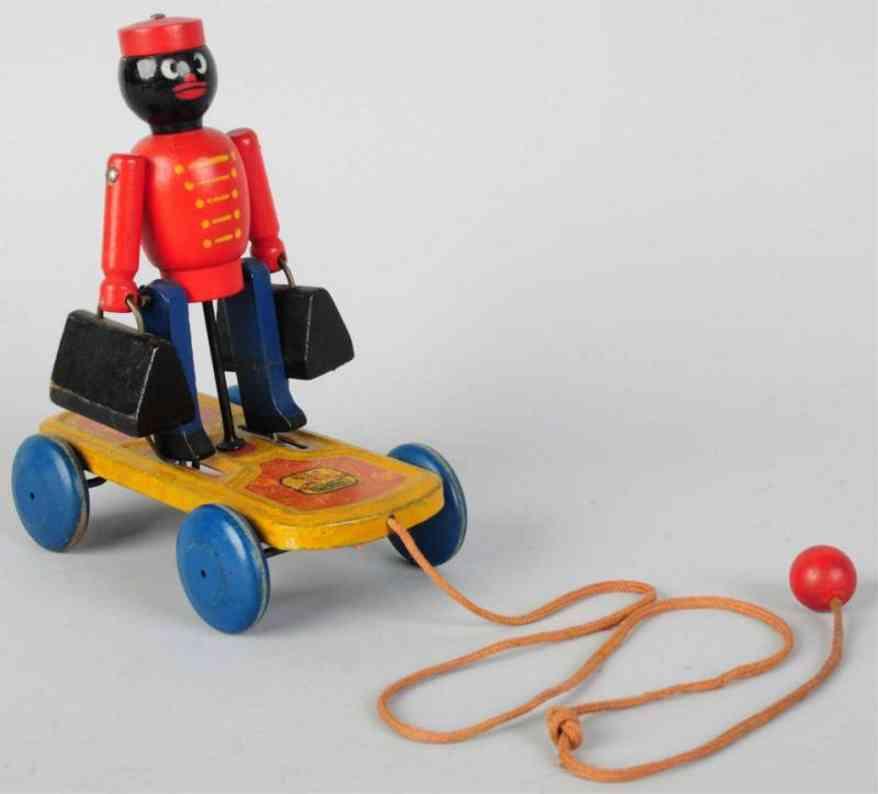 hustler toy company holz spielzeug figur dienstmann