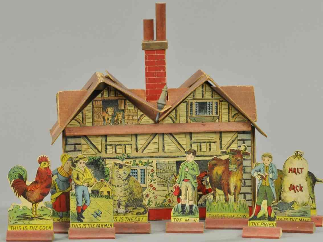 bliss rufus holz spielzeug set farmhaus stall jack 9 figuren