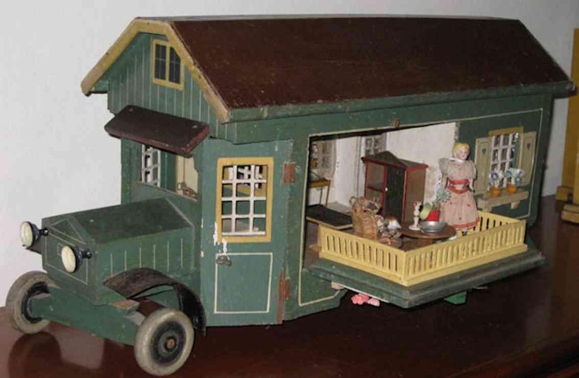 gottschalk moritz holz spielzeug gebäude caravanhaus
