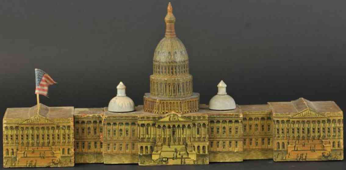 reed toy co paper of wood toy capitol with panorame