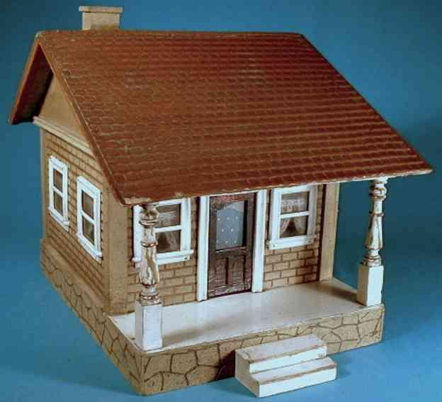 schoenhut wooden toy cottage