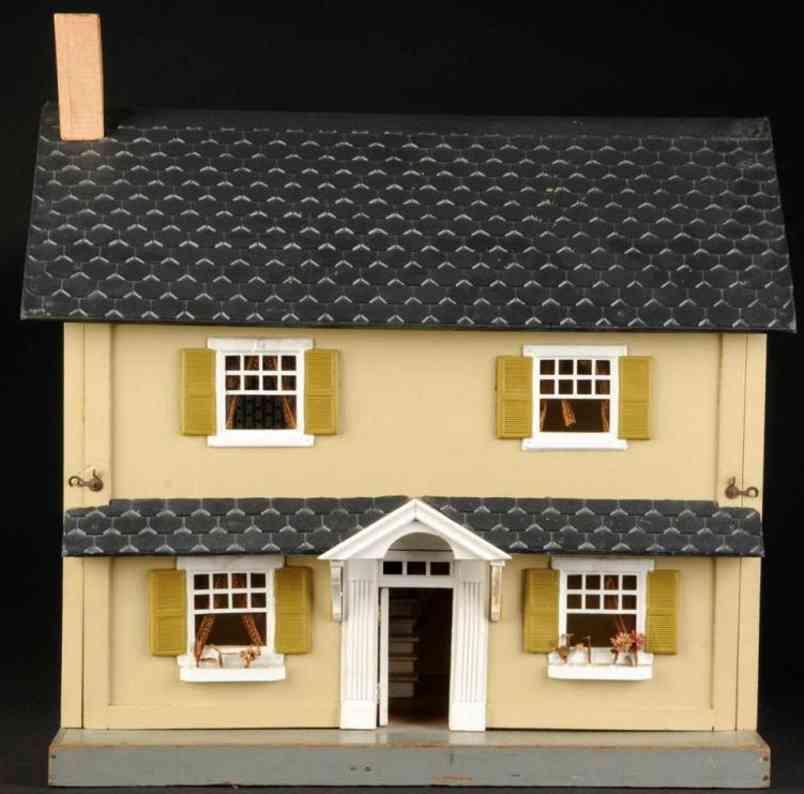Schoenhut Gebäude Puppenhaus aus Holz