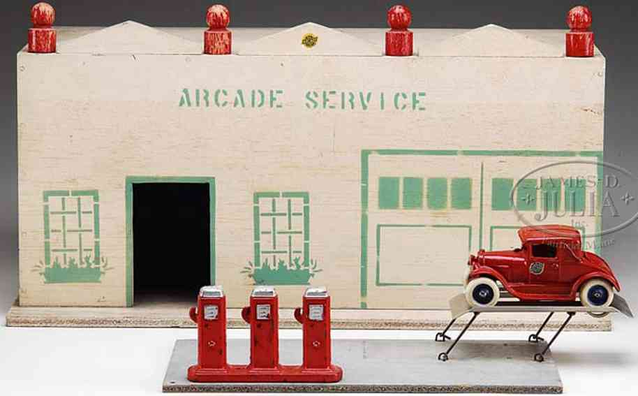arcade wooden toy arcade service station