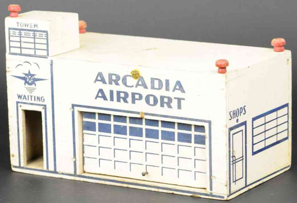 arcade wooden toy airport made of wood