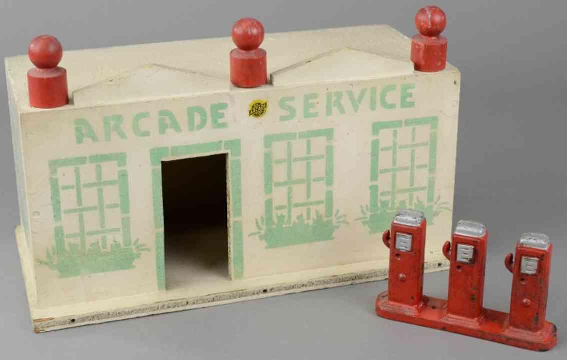 arcade holz spielzeug service station aus holz gusseiserne zapfsaeule