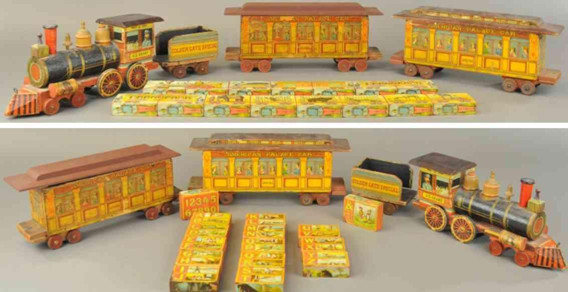 bliss rufus wooden toy u.s. grant floor train saratoge columbia
