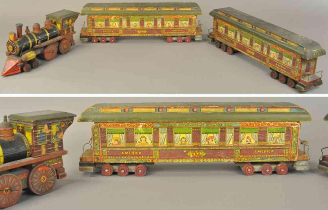 bliss rufus wooden toy world columbian train set paper