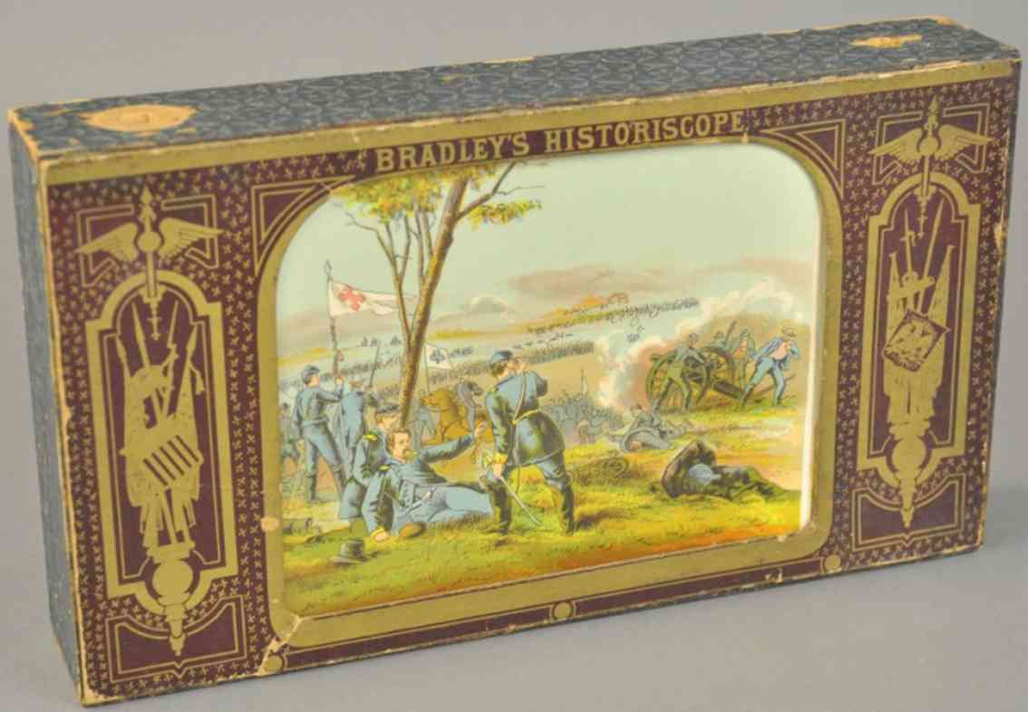 bradley milton holz spielzeug lithografiertes papier zeigt panorama-szenen
