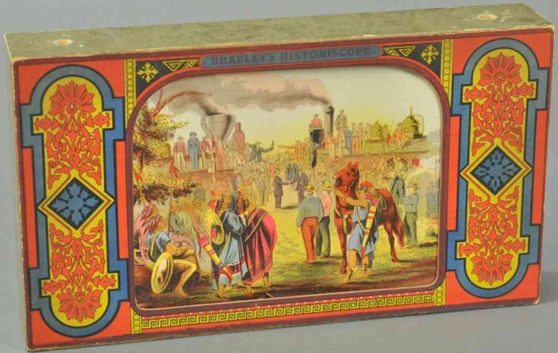 bradley milton holz spielzeug lithografiertes papier panorama-szenen