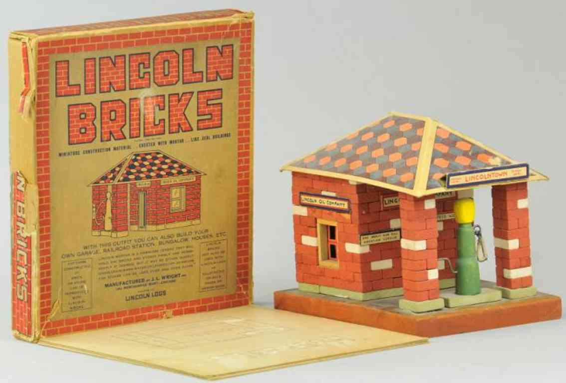 lincoln toys oil company wooden toy lincol bricks