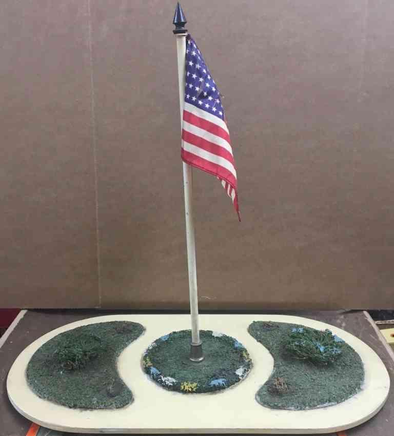 lionel 927 wooden toy ornamental american flag plot standard gauge