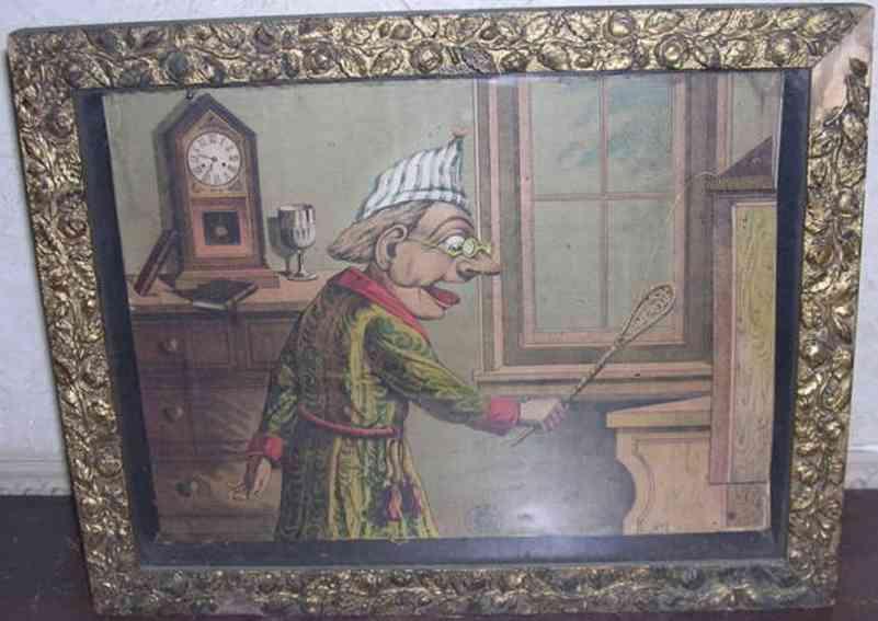 Schoenhut 1 Lebendes Bild zeigt einen alten Mann im Schlafanzug