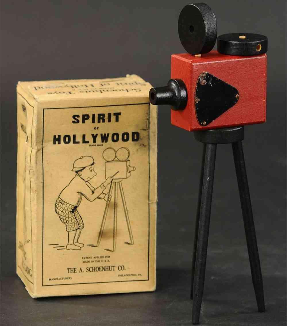 schoenhut 9/25 holz spielzeug spiriti of hollywood filmkamera mit stativ