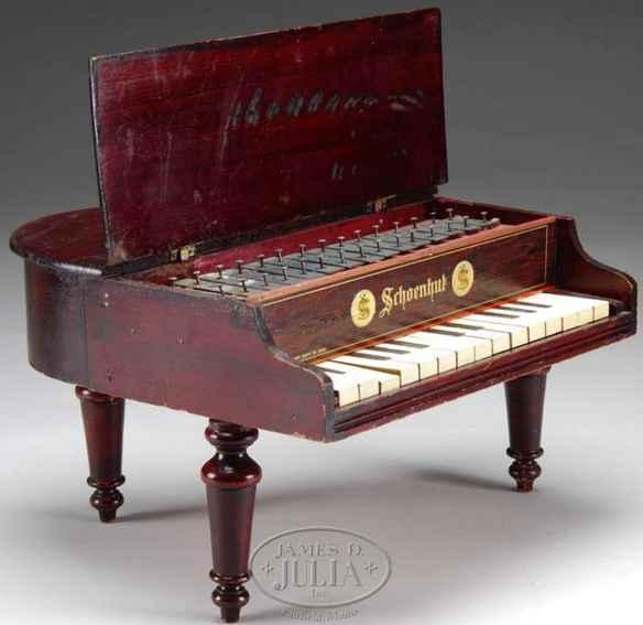 schoenhut holz spielzeug piano klavier
