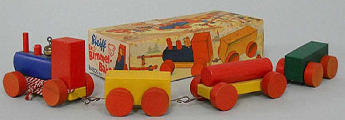 steiff 4205ex holz spielzeug kleine bimmelbahn