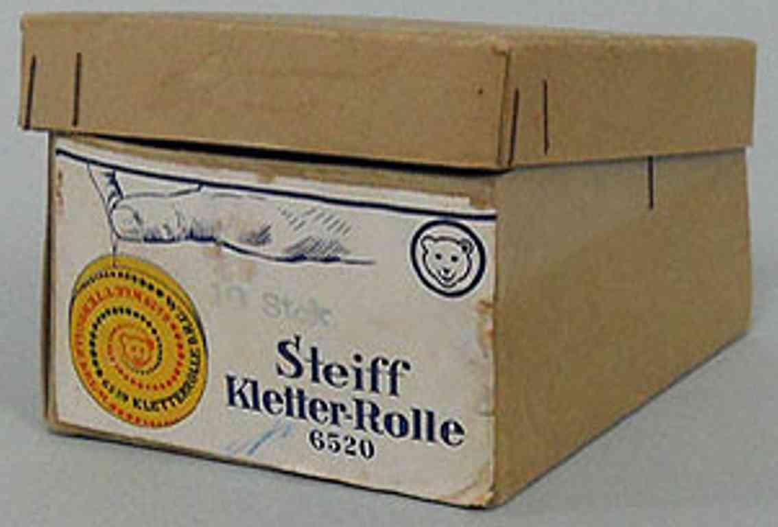 steiff 6520 holz spielzeug  originalkarton kletterrolle