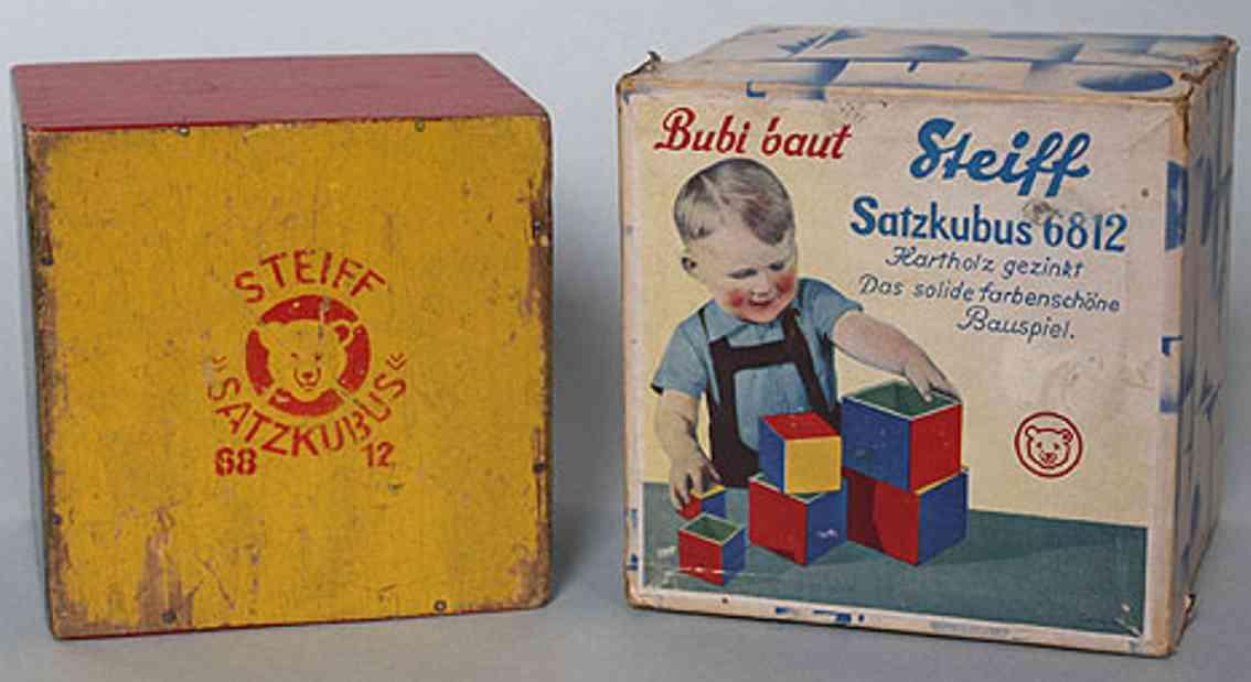 steiff wooden toy satzkubus 6812