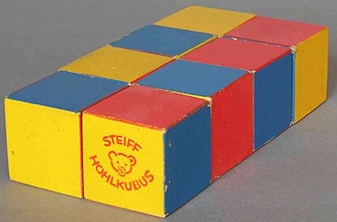 steiff wooden toy wooden blocks hohlkubus 805