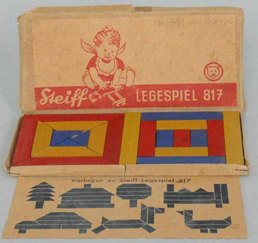 steiff wooden toy tangram game legespiel 817