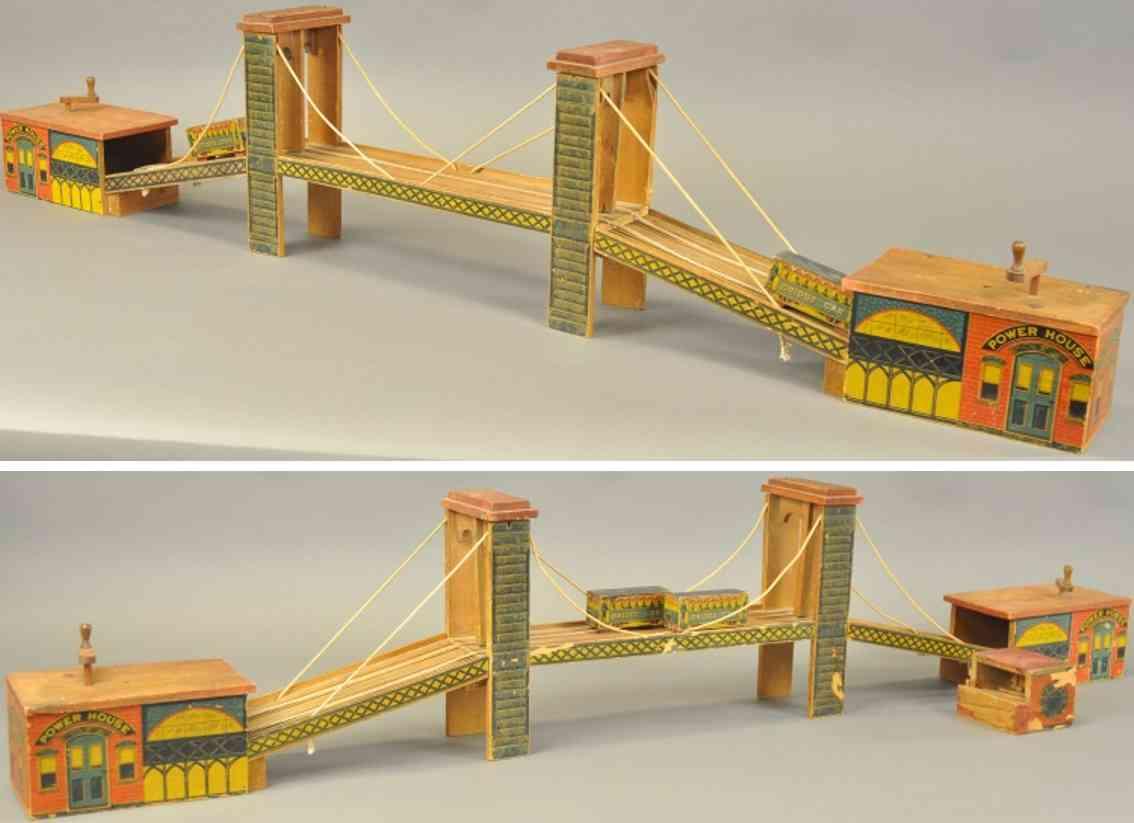 holz spielzeug brooklyn bridge bruecke mit stromhaus
