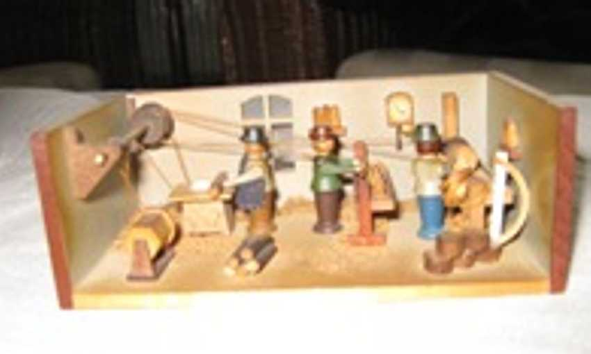 Holzspielzeug Miniatur Holzwerkstatt aus dem Erzbebirge