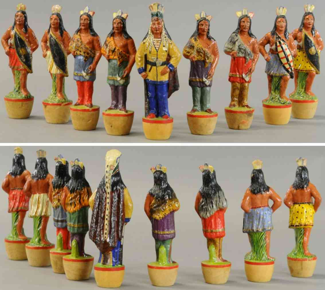 wooden toy indiang figures skittles