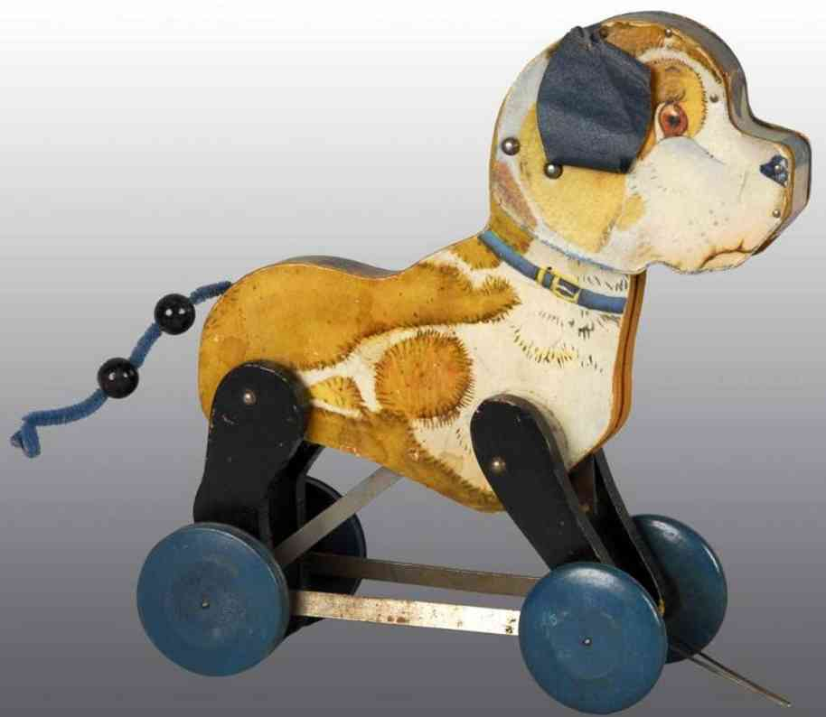 fisher-price 103 holz barky welpe