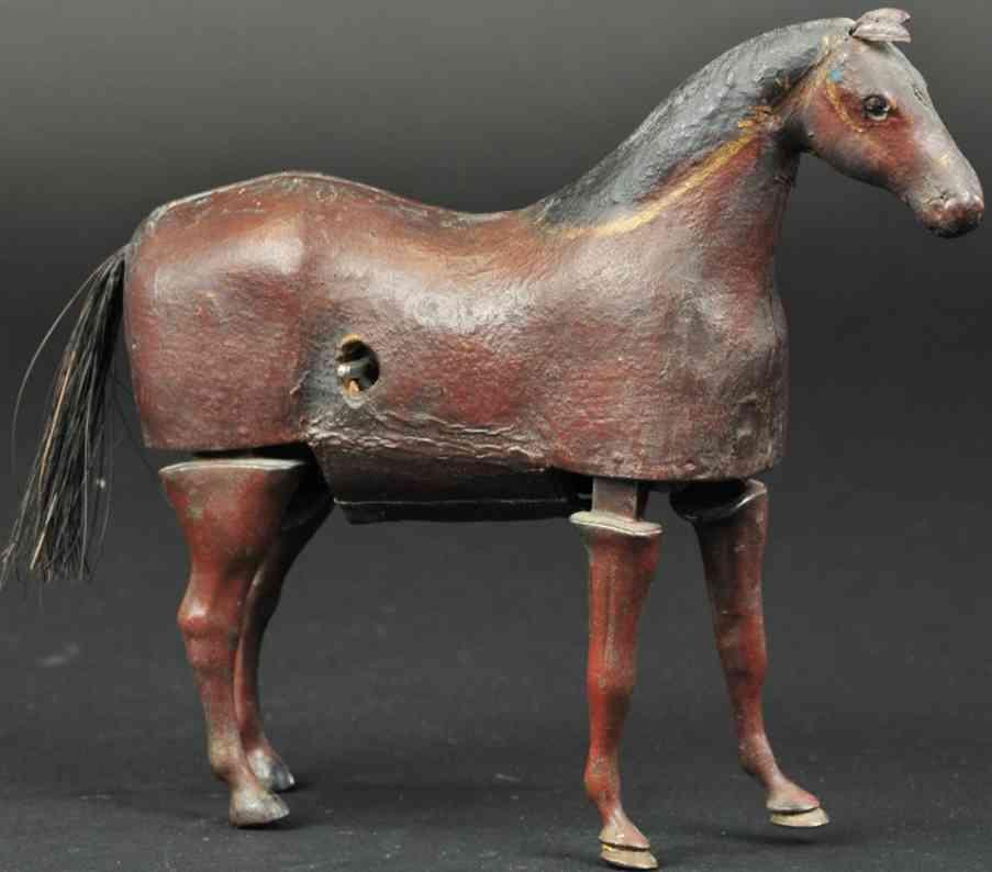 ives composition laufendes pferd mit uhrwerkantrieb