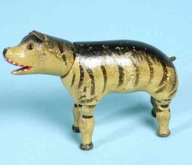 schoenhut holz hyjene  geschnitzter mund glasaugen lederohr
