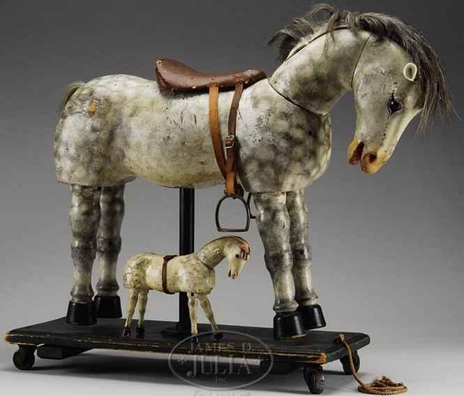 Schoenhut Pferd Wunderblitz