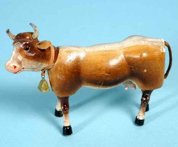 Schoenhut Cow wooden jointed figure