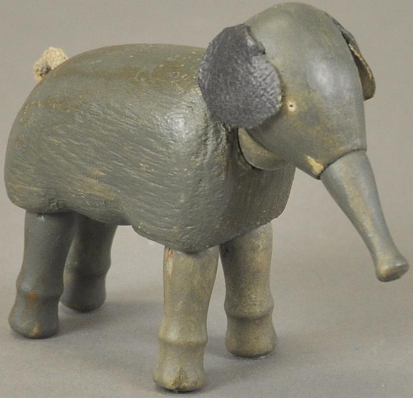 schoenhut holz mini elefant gegliedert