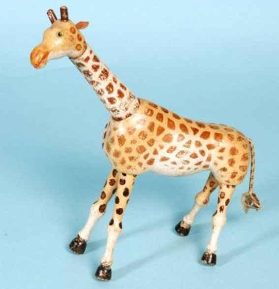 schoenhut giraffe aus holz gegliederte holzkonstruktion glasaugen