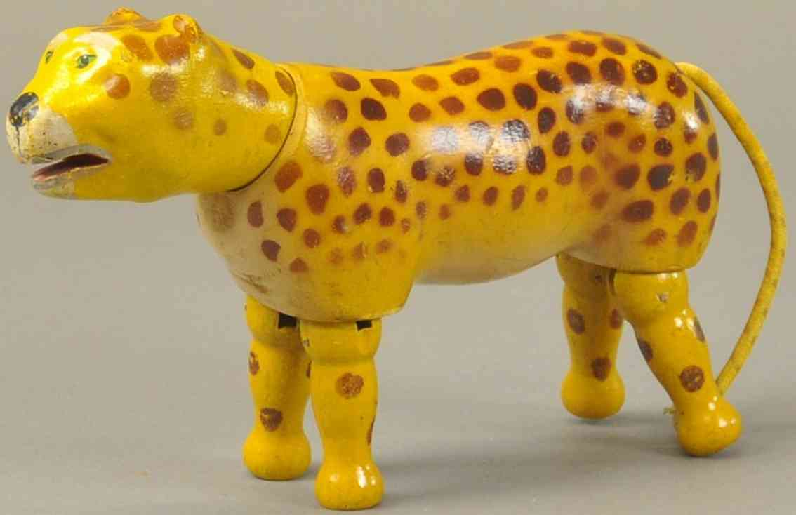 schoenhut holz leopard gelenk gemalte augen