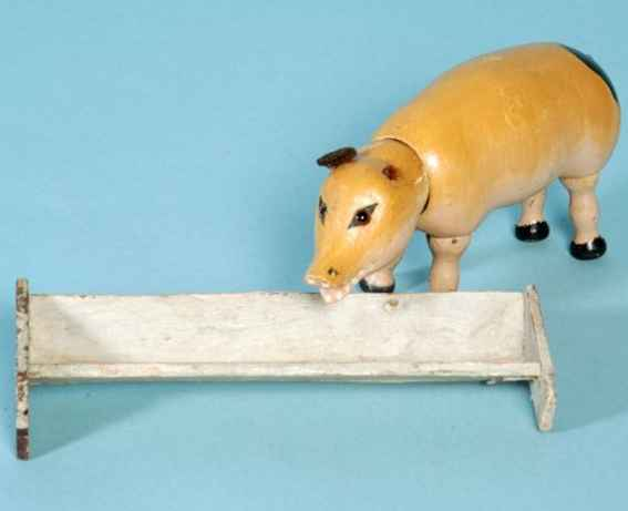 Schoenhut Pig with glass eyes