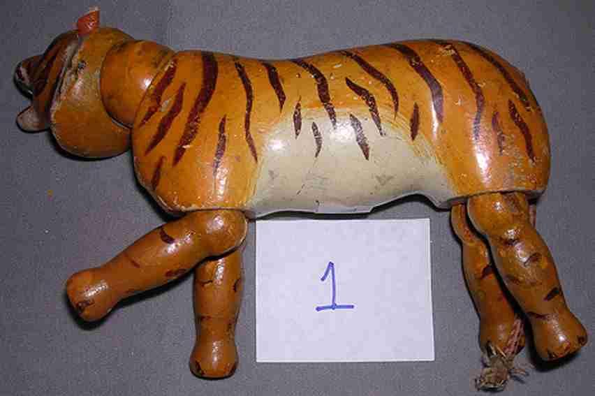 schoenhut holz tiger mit glasaugen