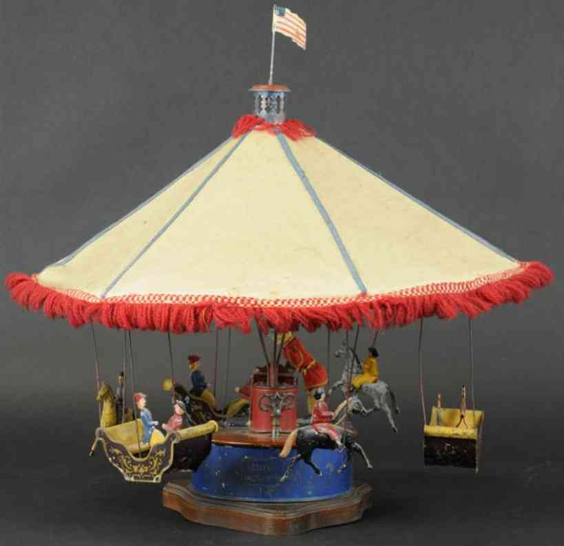 bergmann althof tin toy mechanical carousel