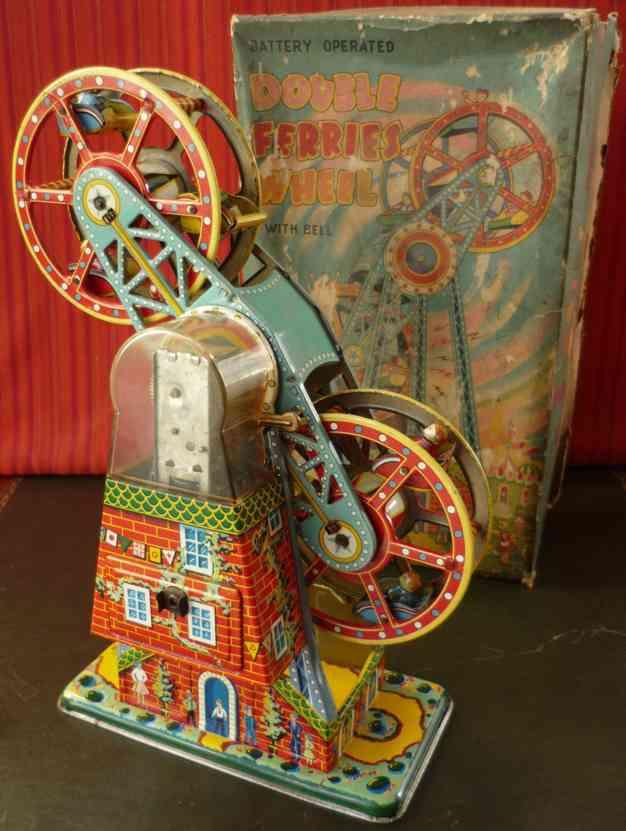 asahi atc tin toy battery carniva double ferris wheel
