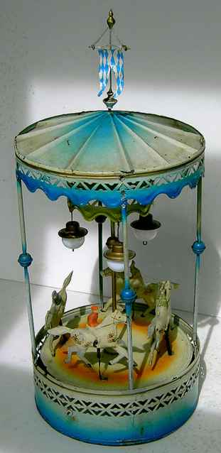 Bing 9956/417 Horse Carousel with 4 figures and 3 lamps