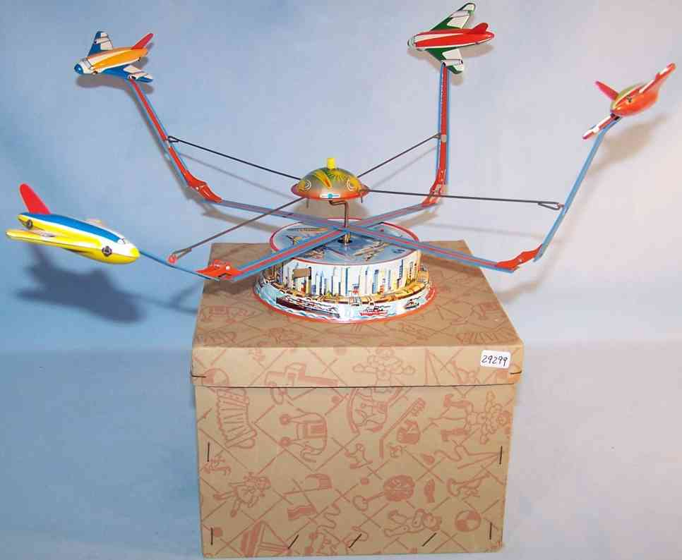 blomer & schuler 552/2 tin toy flyer carousel clockwork