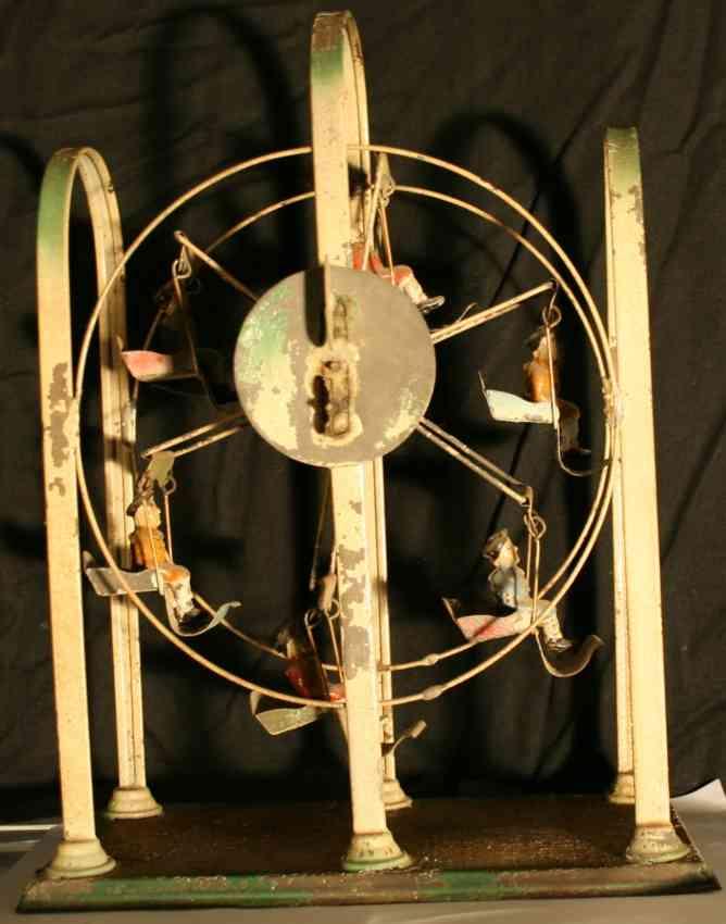 hoch & beckmann tin toy ferris wheel clockwork 6 gondolas passenger
