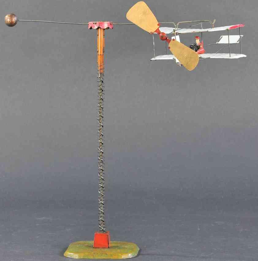 martin fernand 215 blech spielzeug l'aeroplane ein spiralflugzeug spiralmechanismus