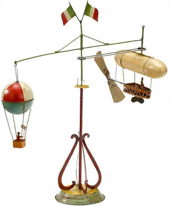 mueller & kadeder blech spielzeug karussell zeppelin heissluftballon