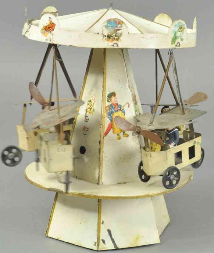4 flugzeuge blech spielzeug karussell mit uhrwerk