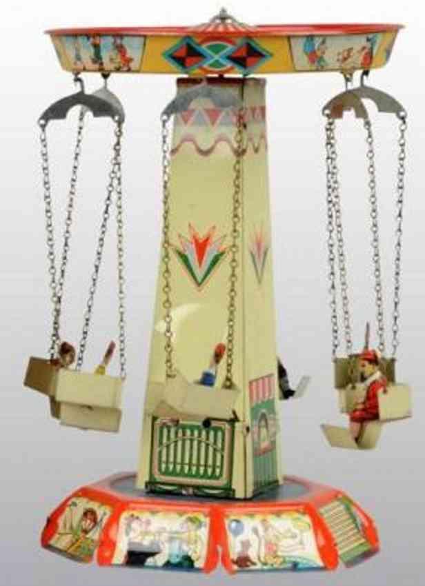 blech spielzeug karussell mit uhrwerk sechs gondeln
