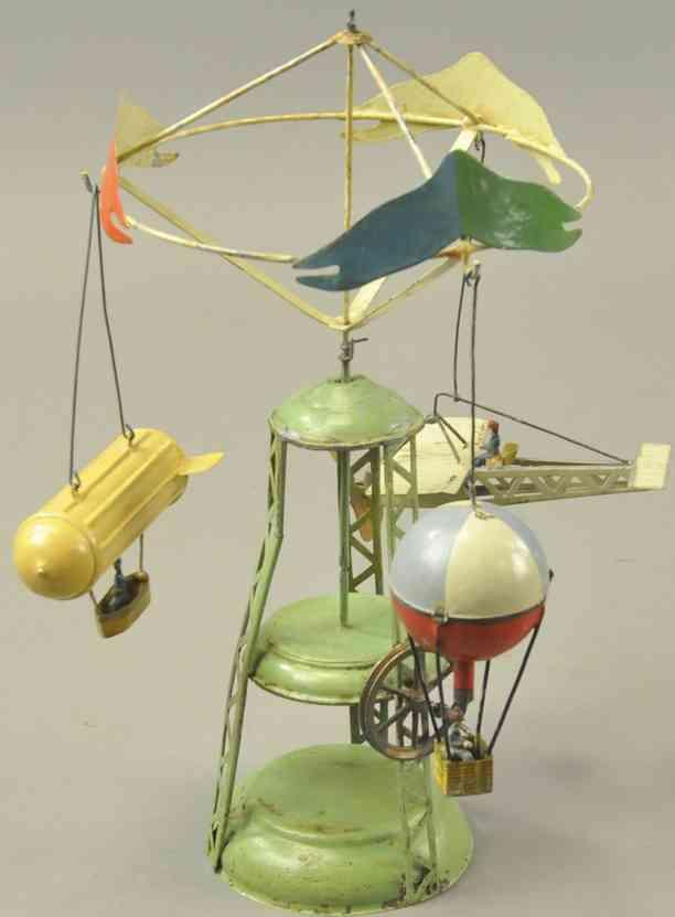 blech spielzeug karussell zeppelin eindecker und fesselballon