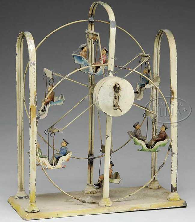 Riesenrad aus Blech mit Uhrwerk